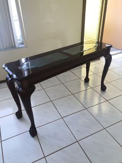 Gorgeous Wood And Glass Sofa Table-MOVING ! Must Sell! for Sale in Fort Lauderdale,  FL