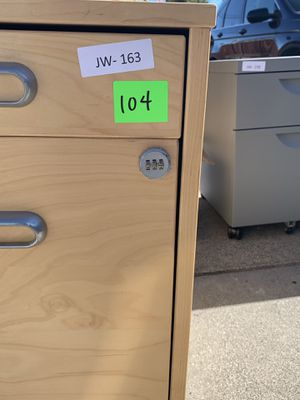 Wooden file cabinet for Sale in Redwood City, CA