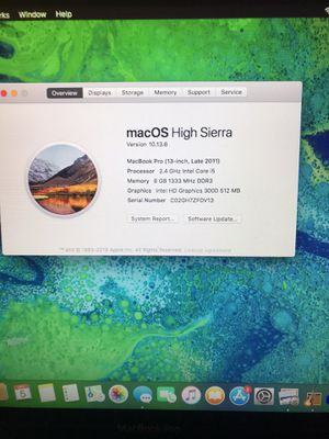 MacBook Pro late 2011 for Sale in Denver, CO