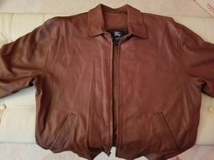Burberry Leather Jacket - Size L for Sale in West McLean, VA