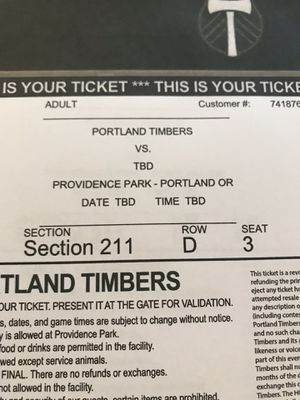 Timbers Tix - 2 Seats - Nov 25th @4:30pm for Sale in Portland, OR