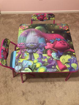 Trolls kids table for Sale in Wildomar, CA
