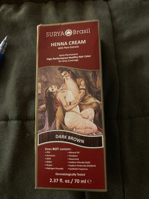 Unopened box of Surya Henna cream dark brown $7 for Sale in New York, NY