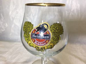 HEINEKEN Bokbier Vintage Rare Collectible Beer Glass Gold Rim for Sale in Apopka, FL