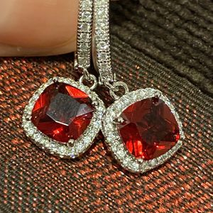 Cute Red Stone Silver Earrings Brand NEW for Sale in Seattle, WA