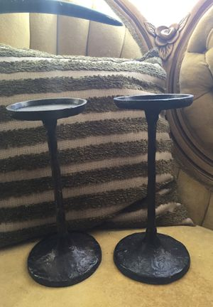 Industrial iron forged candle holders for Sale in Ruston, LA