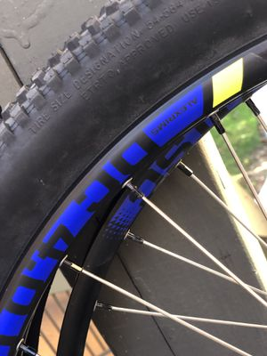 Alex Rims Dc 4.0 Disc shimano freehub body Wheel size 27.5 WTB Beeline Tires 27.5x2.2 Disc Brake comparability straight gear spokes Brass Nipples for Sale in San Diego, CA