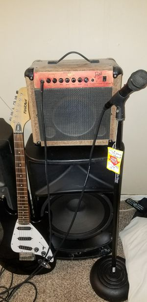 "2 Harbinger Pro Audio 15"" Subwoofer, Guitar, Polk Amp, Microphone for Sale in Casa Grande, AZ"