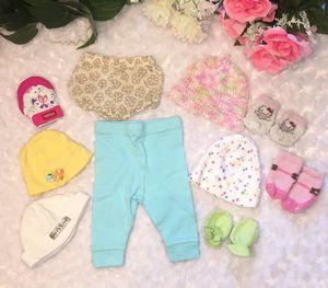 Baby Girl Newborn Pants & Accessories Bundle for Sale in West Palm Beach, FL