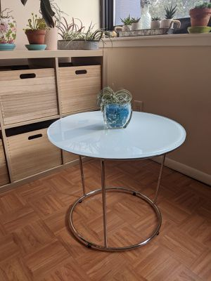 Modern Glass Side Table for Sale in Alexandria, VA