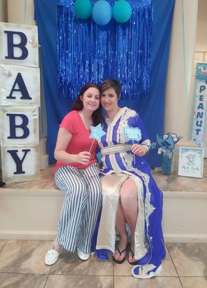 Photo booth backdrop and accessories baby shower baby boy for Sale in Bay Lake, FL