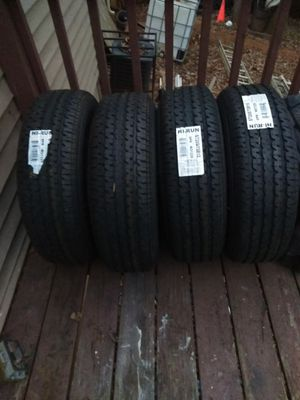 4 New Hi-Run Tires & New Silver Rims for Sale in Duluth, GA