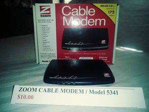 ZOOM Cable Modem Model 5341 for Sale in Mulberry, FL