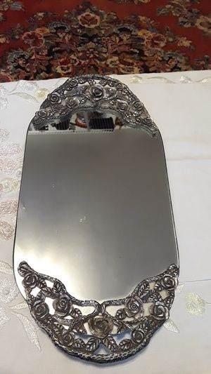 Antique 1930s mirror vanity tray for Sale in Malden, MA