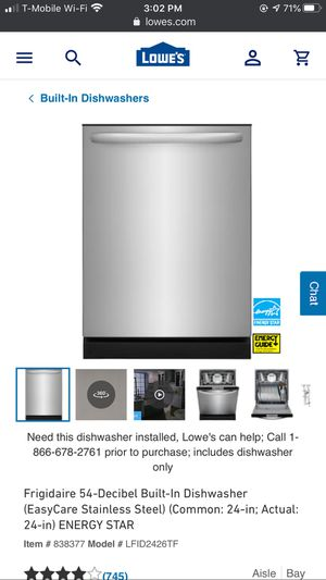 Frigidaire dishwasher for Sale in Salt Lake City, UT