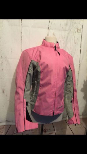 Firstgear hypertex with safety seam New womens grey /pink padded motorcycle 🏍 Size women's Large for Sale in Shoreline, WA