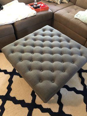Fabric tufted coffee table ottoman for Sale in Alexandria, VA