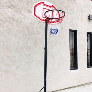 "(New In Box) $50 Kids Junior Sports Basketball Hoop 28x19"" Backboard, Adjustable Rim Height 5' to 7' for Sale in Whittier, CA"