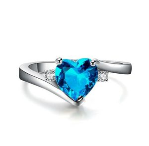 Sterling silver band w/ topaz heart. Sz 7and 8 available for Sale in Glen Burnie, MD