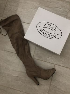 Steve Madden Thigh high boots color Taupe women's size 7 1/2 for Sale in Etiwanda, CA