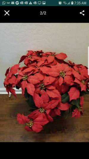 Large Poinsettia Flower Decorative plant on metal pot for Sale in Chandler, AZ