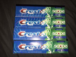 Crest Plus Scope Outlast Toothpaste for Sale in San Jose, CA