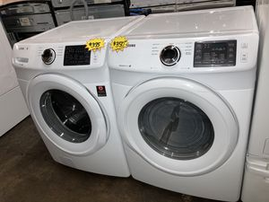 Samsung front load washer & electric dryer set in excellent condition with 4 months warranty for Sale in Baltimore, MD