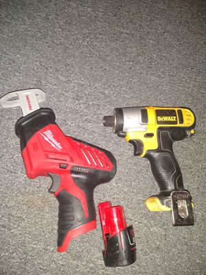 Milwaukee M12 hackzall with battery..and 12v max impact drill for Sale in Philadelphia, PA