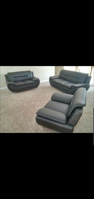 3PC living room furniture NIB Sofa Loveseat Chair *free drop delivery Houston zip codes for Sale in Houston, TX