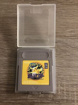 Nintendo Gameboy Pokemon Yellow Japan Version for Sale in San Mateo, CA