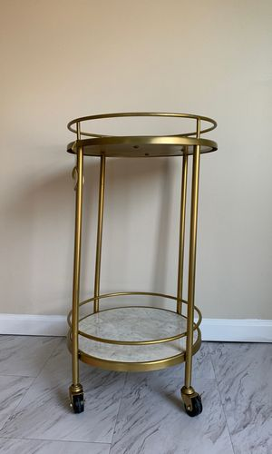 Gold round marble bar cart for Sale in Gaithersburg, MD