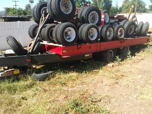 23 ft .heavy equipment flat bed trailer for backhoes.4d dozers,just the trailer, tires dollys on trailer sell separately. $3500.00 Firm papers for Sale in Lakeside, CA