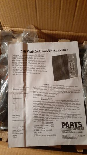 Subwoofer amplifier 250 watt new for Sale in Galena Park, TX