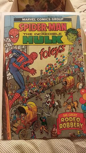 Houston Houston Chronicle Spider-Man and the Incredible Hulk Rodeo memorabilia. 1982 for Sale in Houston, TX