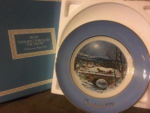 "Vintage 1979 Avon collector plate-""Dashing through the snow"" for Sale in Santa Clara, CA"