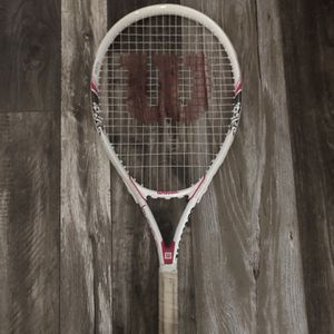 Wilson Hope Tennis Racket (White With Pink And Gray Design) for Sale in Rancho Cordova, CA