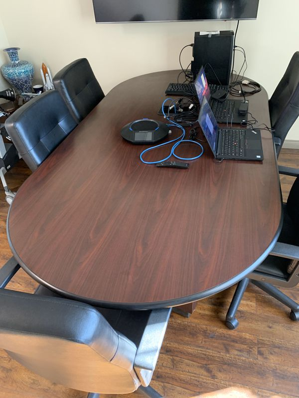 Office Conference Room Table and Chairs. Sold as Set.