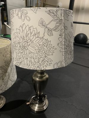 2 Beautiful silver lamp for Sale in Lacey, WA