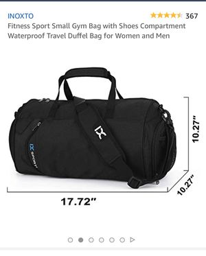 Gym Bag for and Woman with Shoe Compartment. Waterproof Travel Duffle Bag! for Sale in Signal Hill, CA
