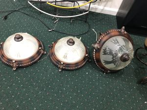 Chandelier and 3 matching light fixtures for Sale in Glen Burnie, MD