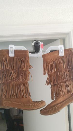 Steve madden brown fringe boots for Sale in Las Vegas, NV