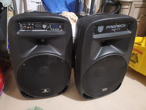 Proreck Party 15 Speakers (lights up to beat) for Sale in Tomball, TX
