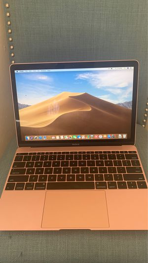 2016 MacBook 12 inch Rose Gold (frame crack, screen is fine just frame has small crack see photo) for Sale in Alexandria, VA
