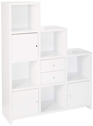 Coaster Home Furnishings Asymmetrical Bookcase with Cube Storage Compartments White for Sale in Houston, TX