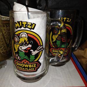 "Oair Of 1980s SHOWBIZ PIZZA PLACE ""MITZI"" mugs for Sale in San Antonio, TX"