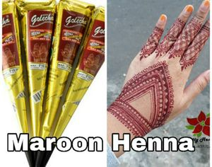 4 Maroon Red Henna Cones for Sale in Parsippany, NJ