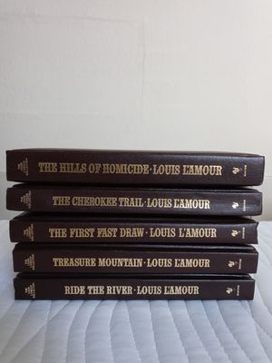 Louis L'amour Leatherette Book Collection for Sale in San Antonio, TX