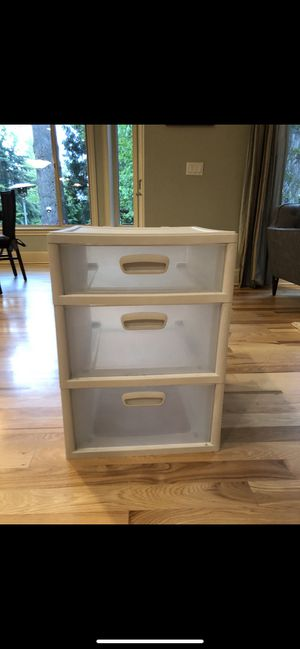 Sterilite 3 Drawer Storage Container 17 x 20 for Sale in West Linn, OR