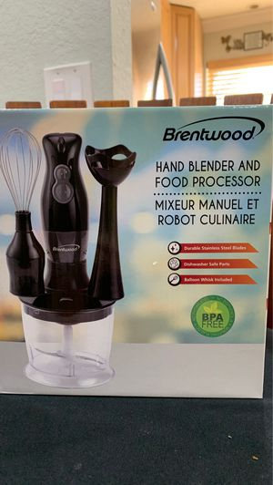 Brentwood Hand Blender and Food Processor-NEW for Sale in Hollywood, FL