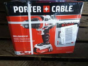 140$ New in box Combo deal Sawzall Porter Cable 20v and Porter Cable 20v Brushless drill with 2 batteries and charger for Sale in Bellevue, WA